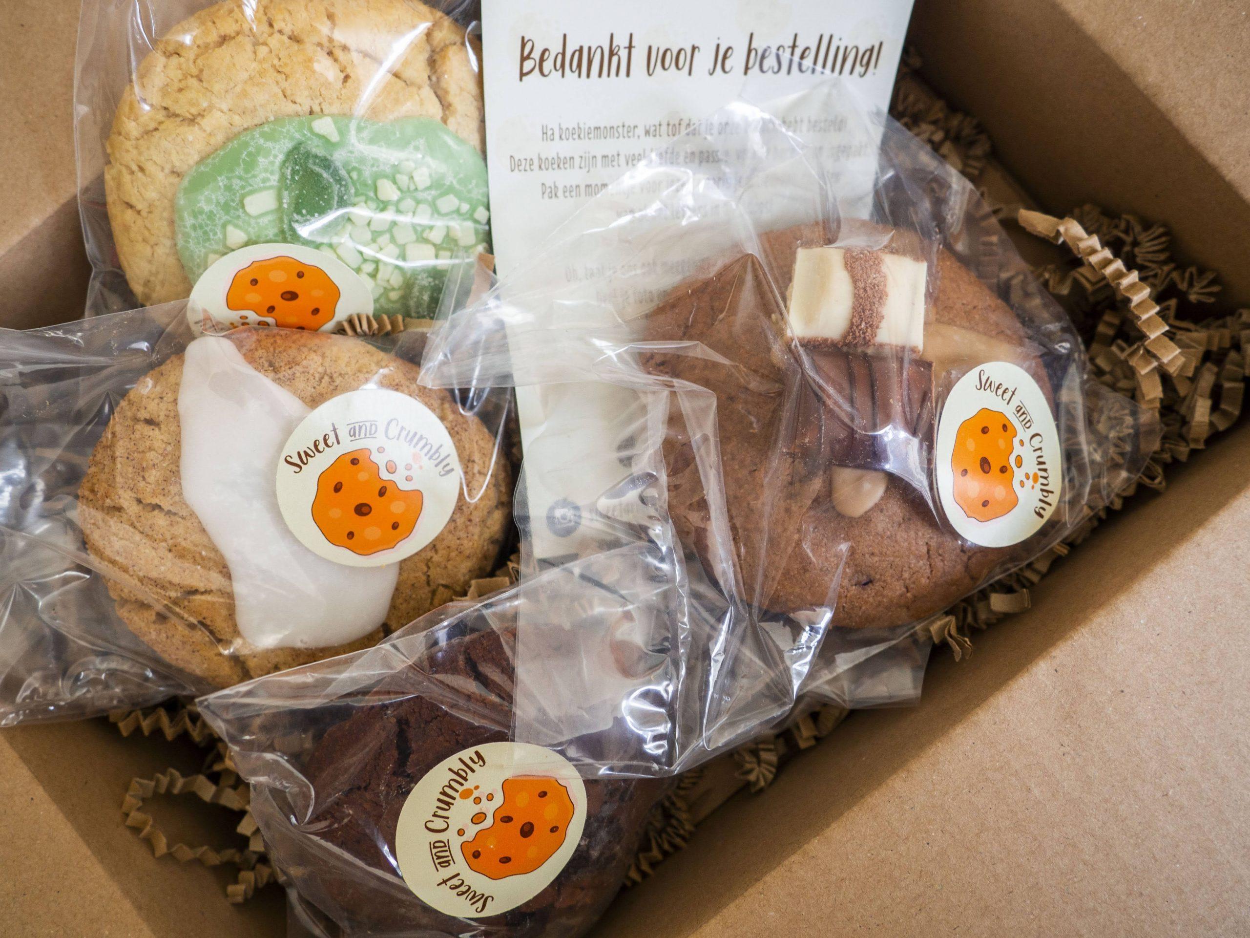 de ambachtelijke koeken van Sweet and Crumbly
